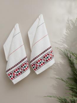 """Полотенца махровые """"KARNA"""" CHRISTMAS 30x50 см 1/2"""