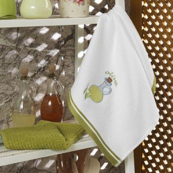 Набор салфеток махровая+вафельная MAXSTYLE 40/60 см. 2 шт.