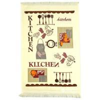 """Кухонное полотенце с бахромой """"AKIPEK""""  40x60 см 1/1_1"""
