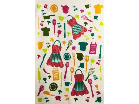 """Кухонное полотенце с бахромой """"AKIPEK""""  40x60 см 1/1"""